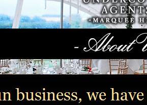 Undercover Agents Marquee Hire, Lincolnshire